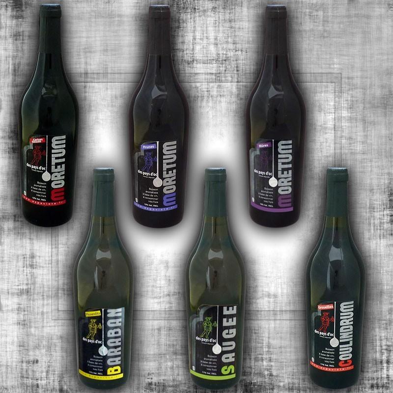 Assortiment de 6 vins fruits et plantes 75cl