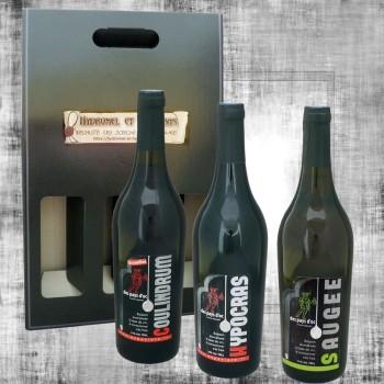 Coffret vin épicé rouge, vin au fruit et vin doux