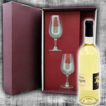 Coffret Hydromel Elixir de Dragon 75cl et 2 verres à vin